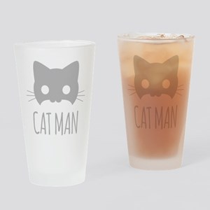 Cat Man Drinking Glass